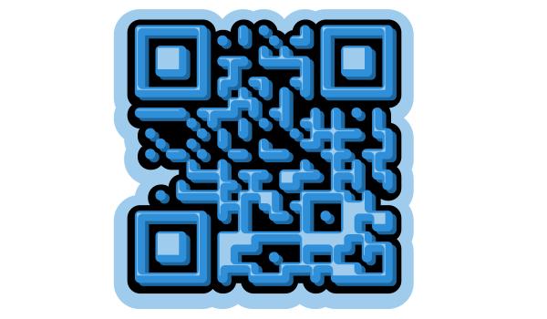 Стилизованный в Inkscape QR-код