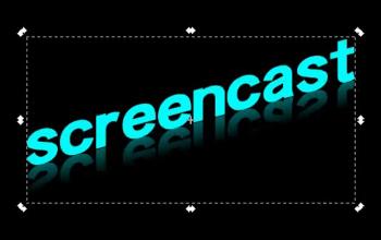 Отражение текста в Inkscape
