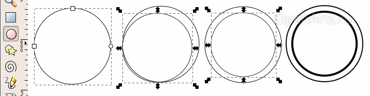 Создание правильной окружности в Inkscape