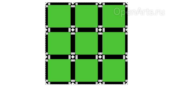 Объединение контуров в один в Inkscape