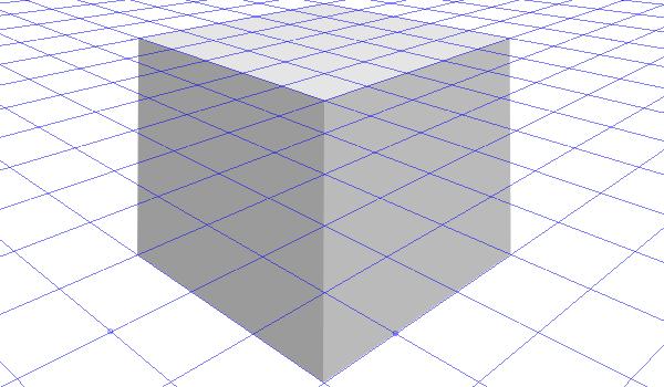 Рисование 3D куба в перспективе в Inkscape