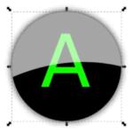 Блестящая кнопка в Inkscape