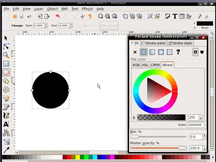 Создание основы для будущей кнопки в Inkscape