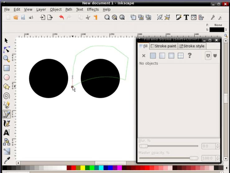 Создание кривой Безье в Inkscape