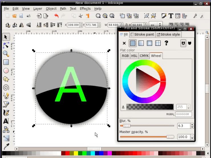 Размывание круга в Inkscape