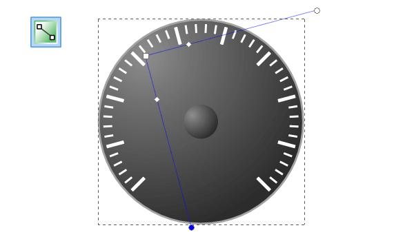 Создание радиального градиента на большом круге в Inkscape