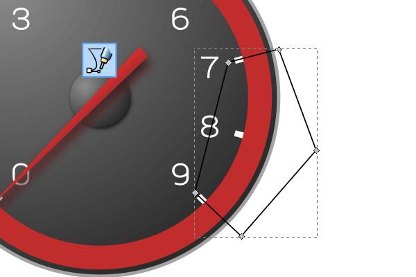 Удаление сегмента обводки в Inkscape
