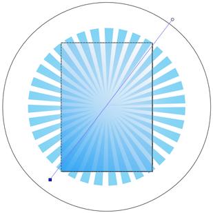 Прямоугольник с линейным градиентом в Inkscape