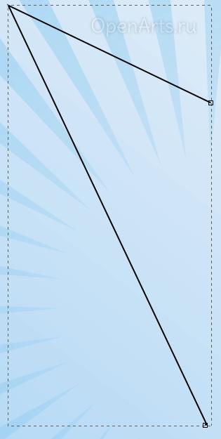 Прямые линии из кривых Безье в Inkscape
