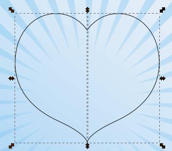 Дублирование и отражение кривой в Inkscape