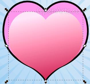 Дублирование и масштабирование объектов в Inkscape