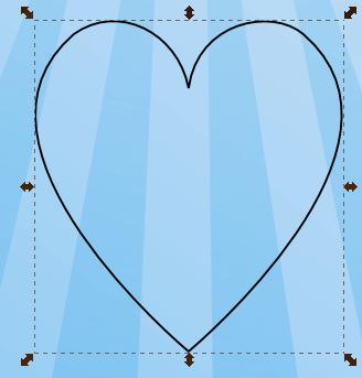 Рисование сердца в Inkscape