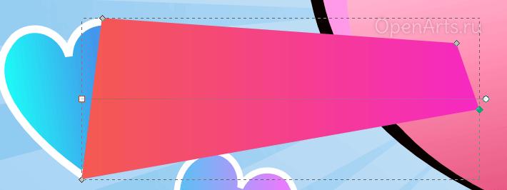 Создание многоугольника с градиентной заливкой в Inkscape