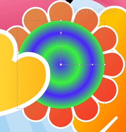 Создание радиального градиента в Inkscape