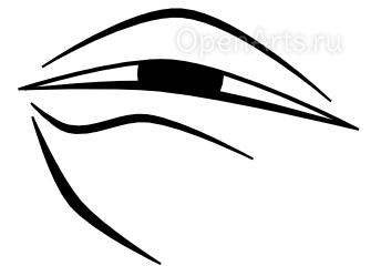 Рисуем в Inkscape складку под глазом