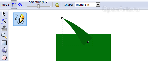 Рисование веточки в Inkscape
