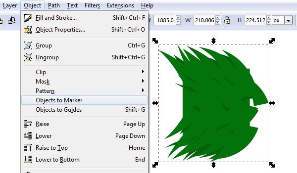 Создание маркера в Inkscape