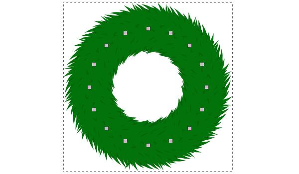 Создание венка в Inkscape