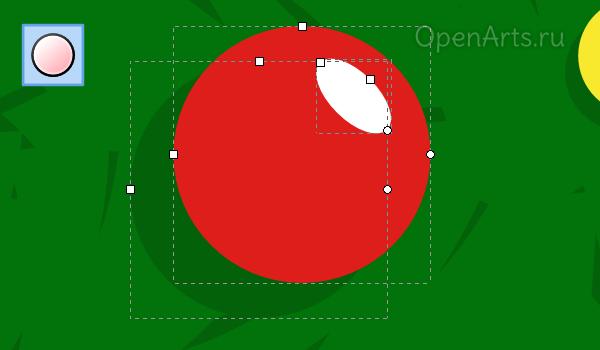 Рисование новогоднего шарика в Inkscape
