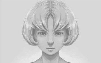 Krita для новичков (1/3) - Черно-белый портрет