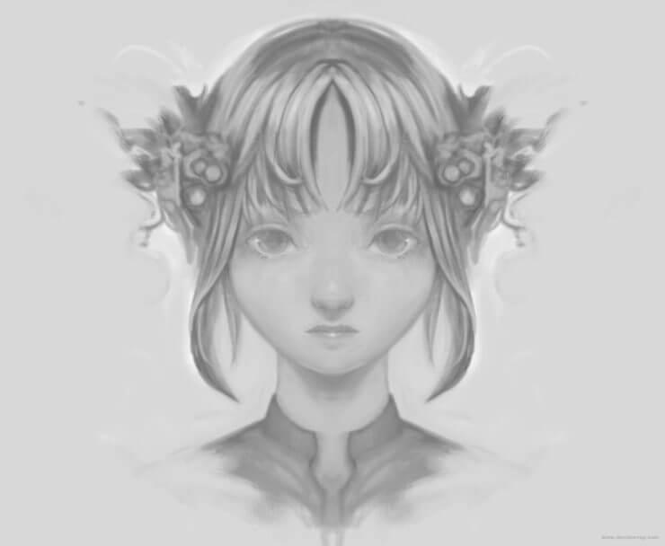 Зеркальный персонаж в Krita (1)