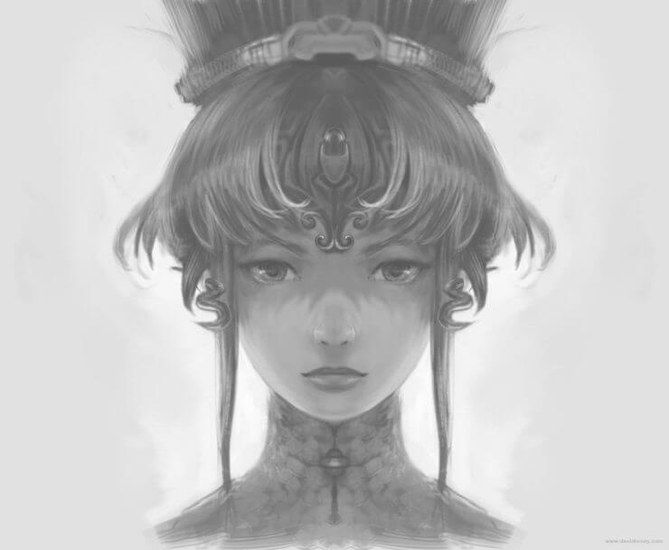Зеркальный персонаж в Krita (2)