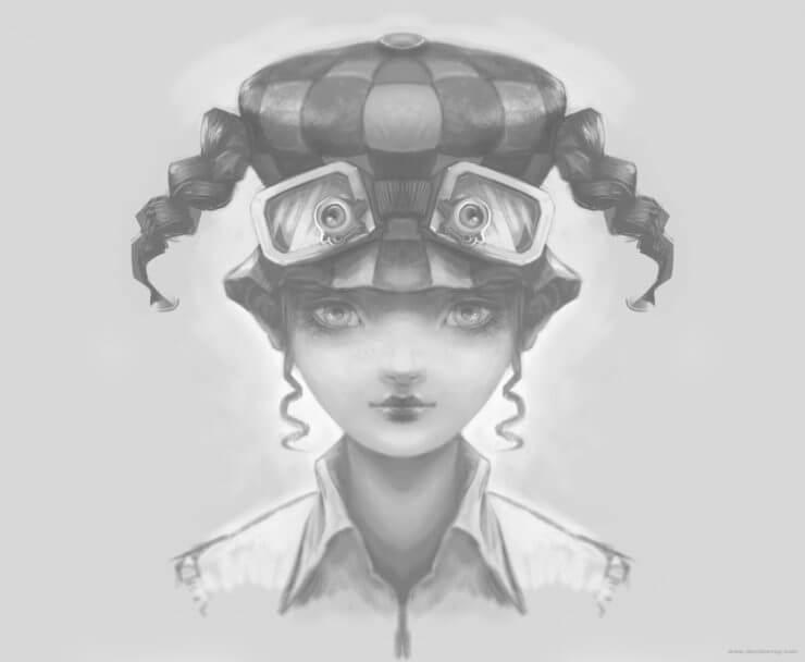 Зеркальный персонаж в Krita (3)