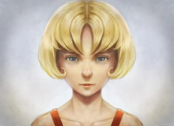 Финальное изображение раскрашенного в Krita портрета