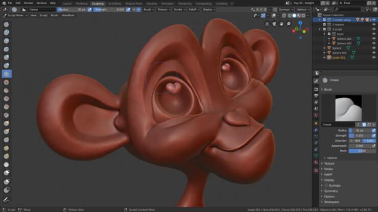Скульптинг в Blender 2.80