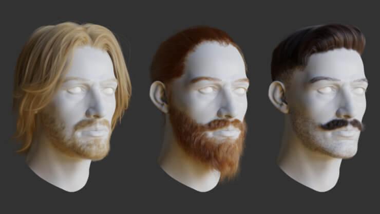 Principled hair BSDF (создание волос) в Blender 2.80