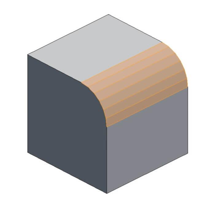 Скругление фаски в Blender