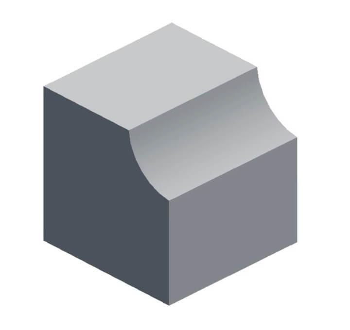 Вогнутая и сглаженная фаска в Blender