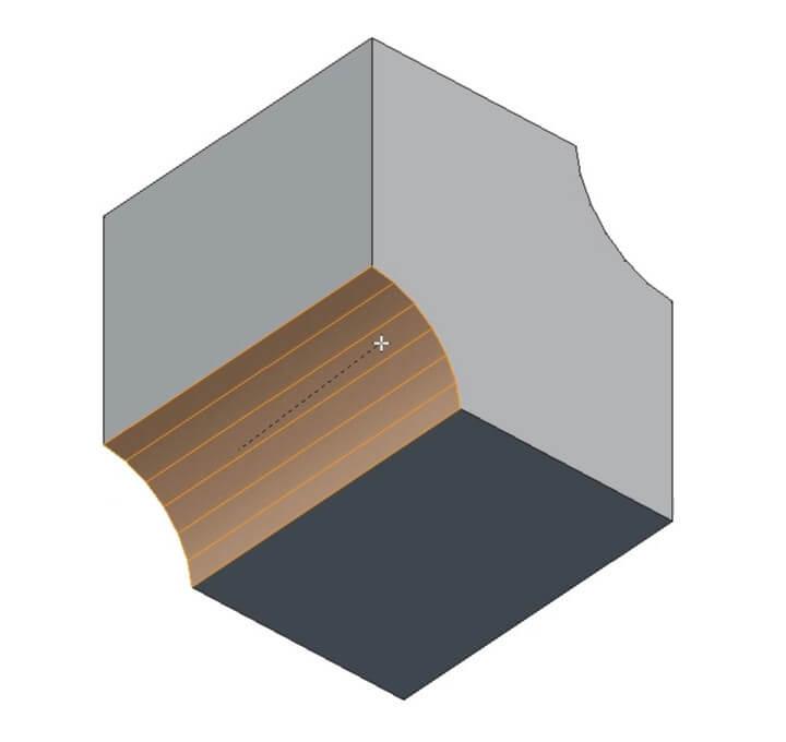Создание нескольких фасок в Blender