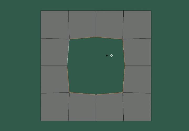 Как скруглить прямоугольное выделение в Blender (2)