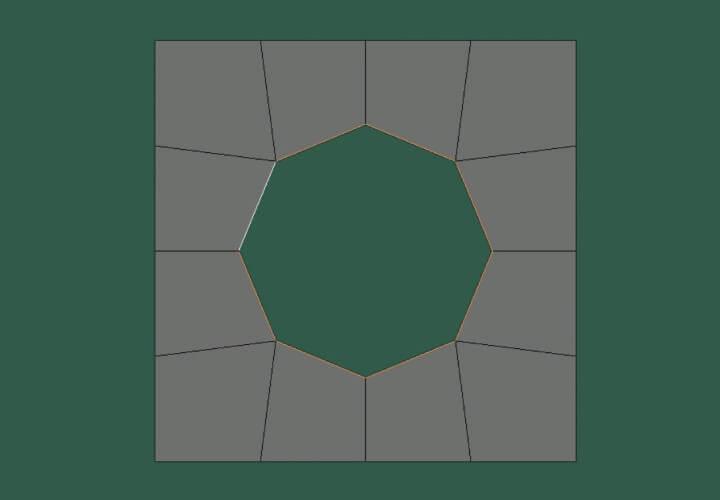Как скруглить прямоугольное выделение в Blender (4)