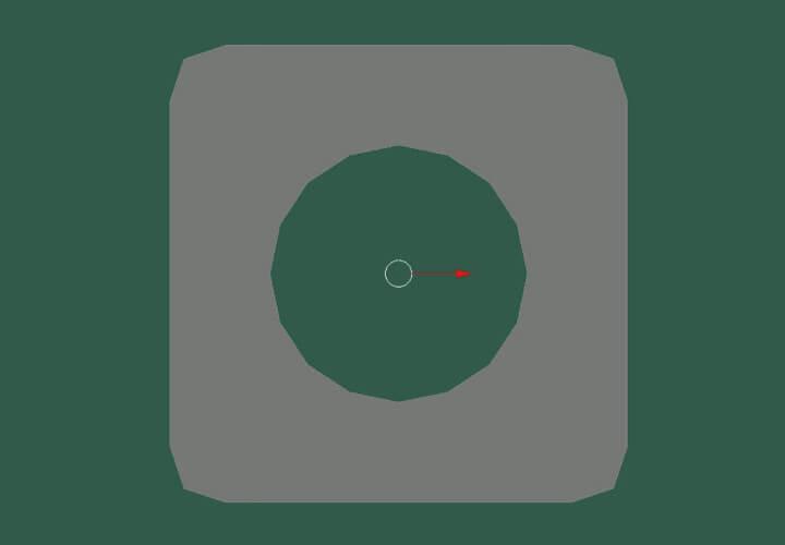 Как скруглить прямоугольное выделение в Blender (6)