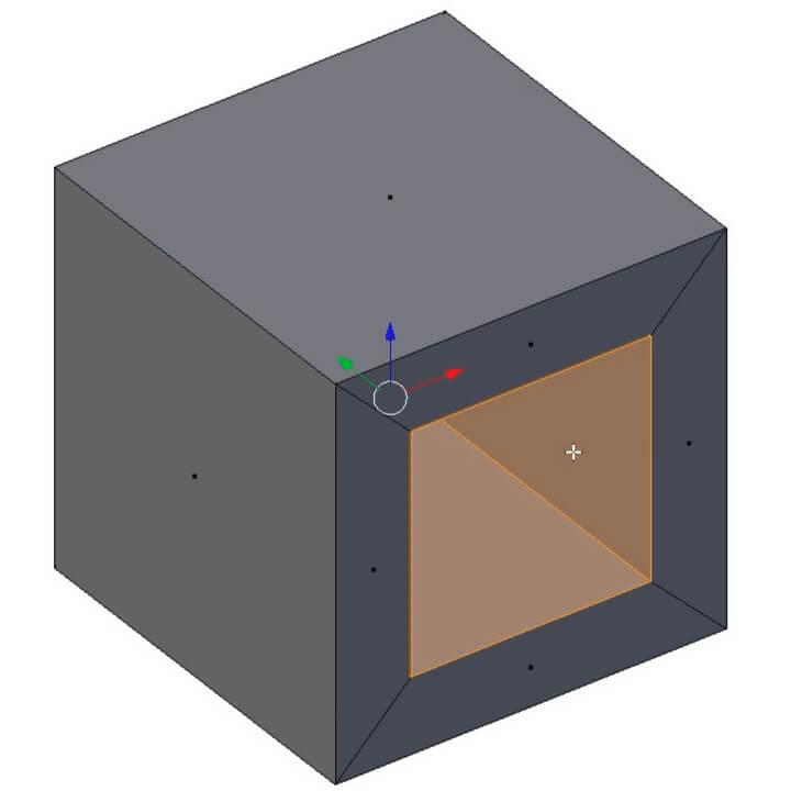 Создание дыры при моделировании в Blender