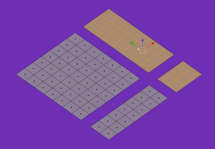 Как в Blender быстро выделять связанные грани, ребра или вершины (2)