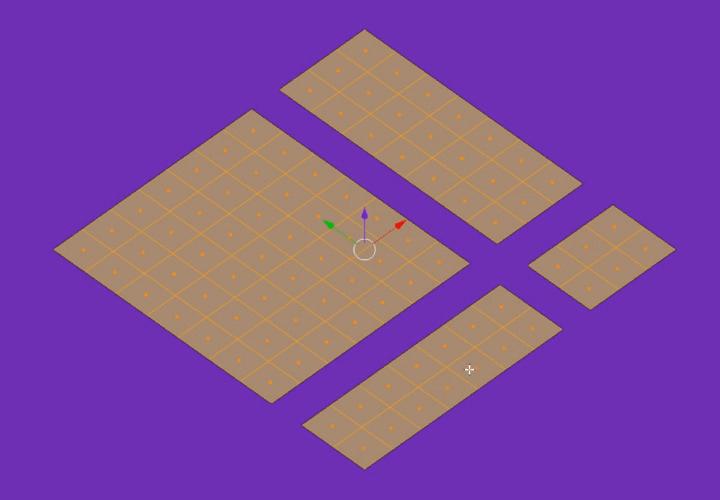 Как в Blender быстро выделять связанные грани, ребра или вершины (4)