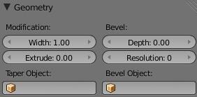 Работа с геометрией текста в Blender 2.5