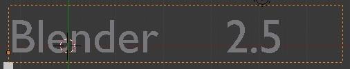 Работа с текстом в Blender 2.5 (Paragraph 2)