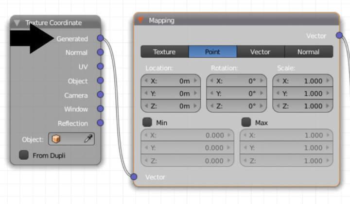 Текстурирование объекта в Blender без использования UV-развертки (ноды 1)