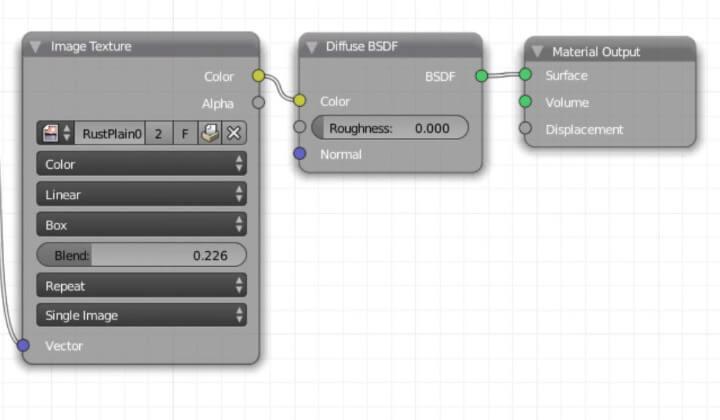 Текстурирование объекта в Blender без использования UV-развертки (ноды 5)