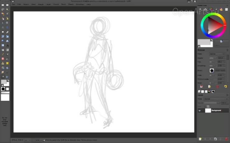 Рисуем общие формы будущего персонажа