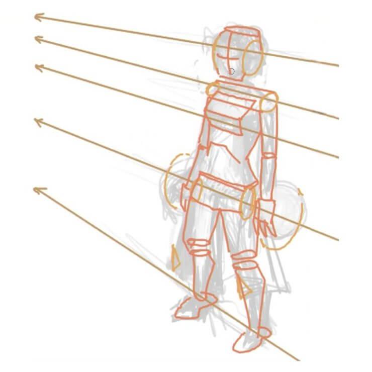 Ключевые точки облегчают рисование остальных частей тела
