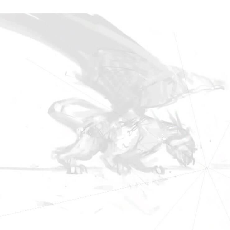 Изменение формы и положения головы дракона