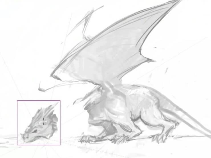 Удлинение шеи дракона