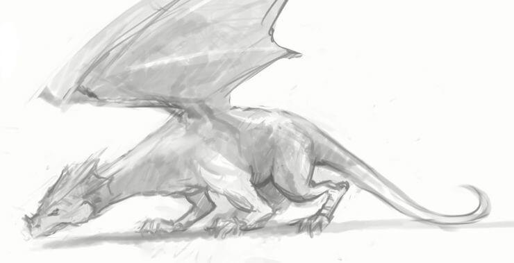 Окончательный набросок дракона