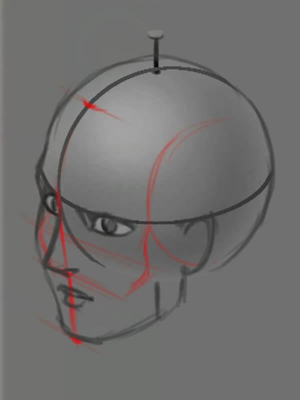 Определение расположения элементов на голове