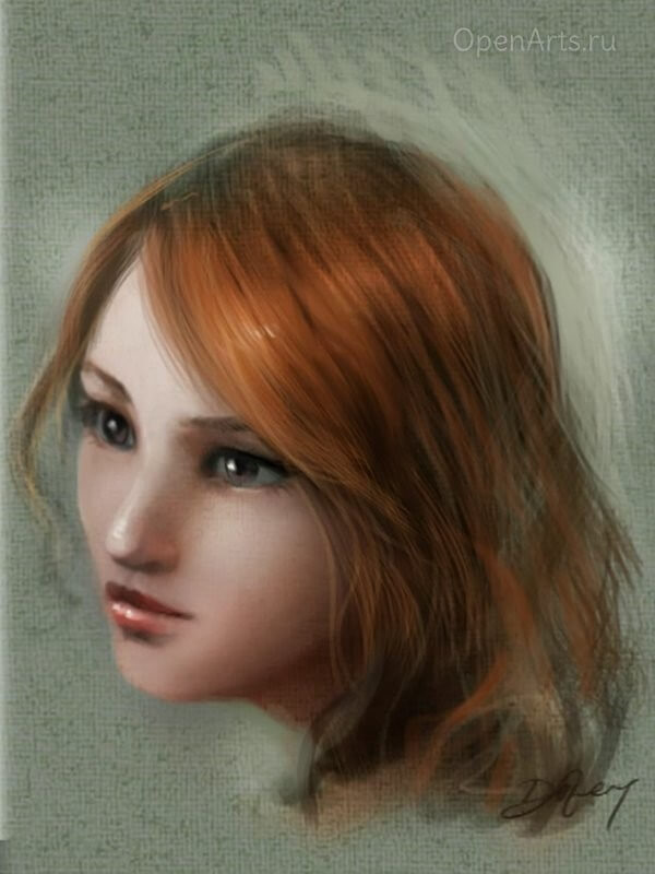 Итоговое цветное изображение головы человека